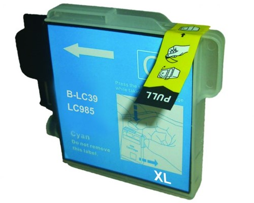 Inktcartridge Wibber Brother LC-985 Cyaan